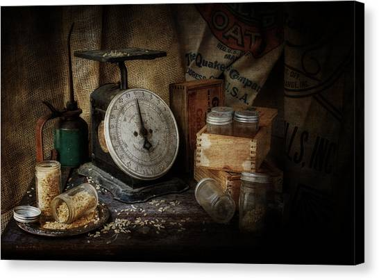 Weights Canvas Print - Scale by Everet Regal