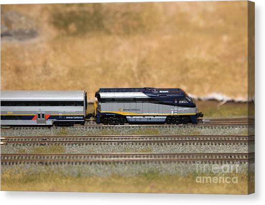 Amtrak Canvas Print - Scale Model Trains 5d21798 by Wingsdomain Art and Photography