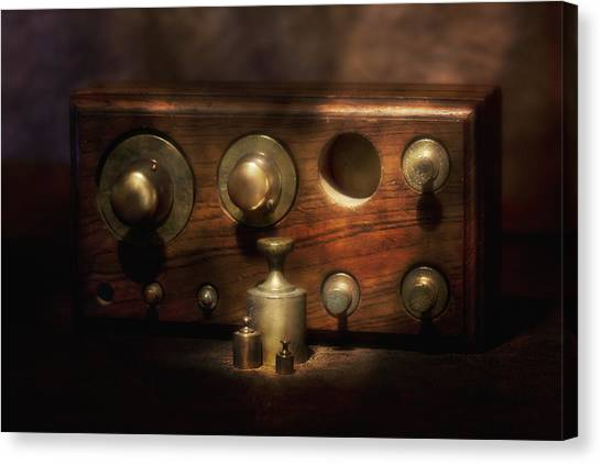 Weights Canvas Print - Scale Weights Still Life II by Tom Mc Nemar