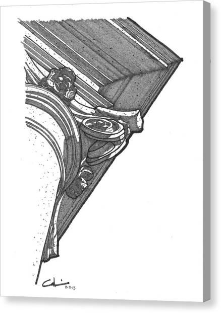 Scamozzi Column Capital Canvas Print