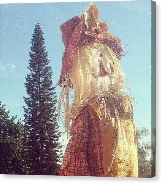 Scarecrows Canvas Print - #scarecrow by Eddie Espinoza