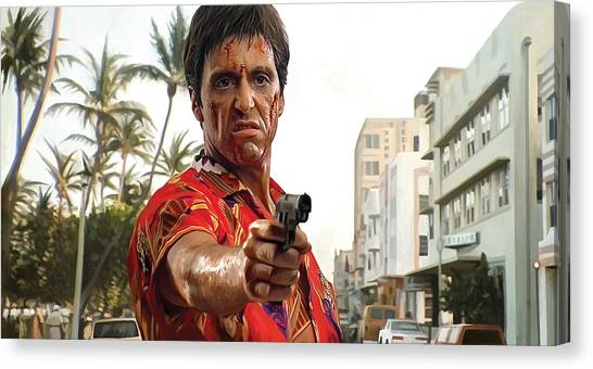 Scarface Canvas Print - Scarface Artwork 2 by Sheraz A