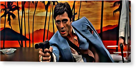 Scarface Canvas Print - Scarface by Florian Rodarte