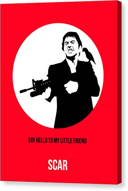 Scarface Canvas Print - Scarface Poster 2 by Naxart Studio