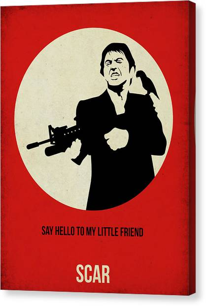 Scarface Canvas Print - Scarface Poster by Naxart Studio