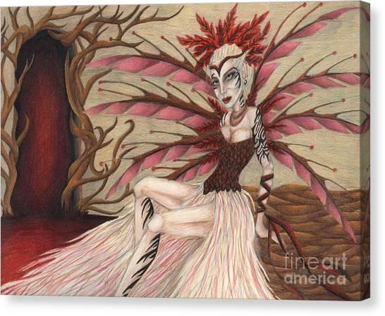 Scarlet Canvas Print by Coriander  Shea