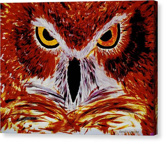 Scarlet Owl Canvas Print by David Cates