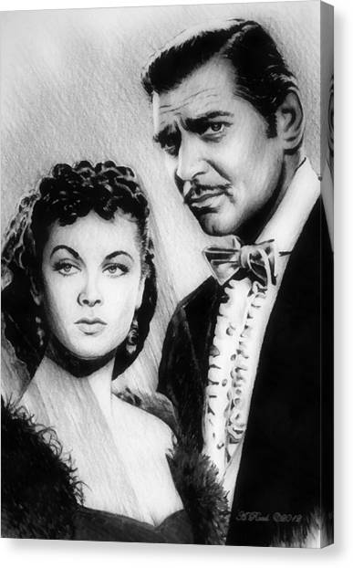 Gone With The Wind Canvas Print - Scarlett And Rhett by Andrew Read