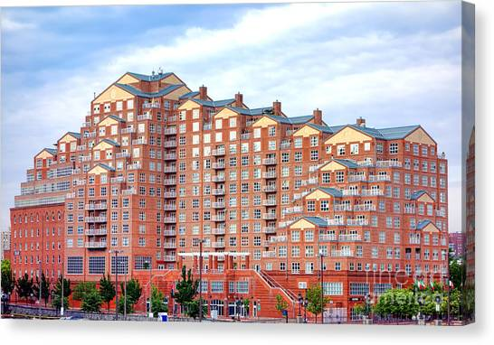 Captivating Baltimore Inner Harbor Canvas Print   Scarlett Place Baltimore By Olivier  Le Queinec