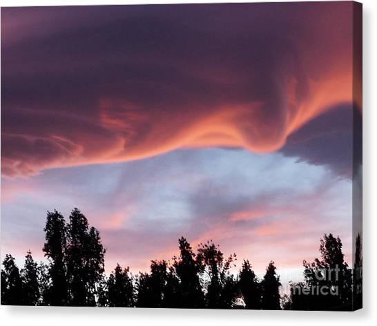 Scary Desert Sky Canvas Print by Deborah Smolinske