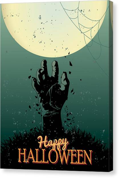 Halloween Canvas Print - Scary Halloween by Gianfranco Weiss