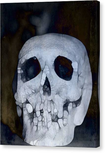 The Haunted House Canvas Print - Scary Skull by Dan Sproul