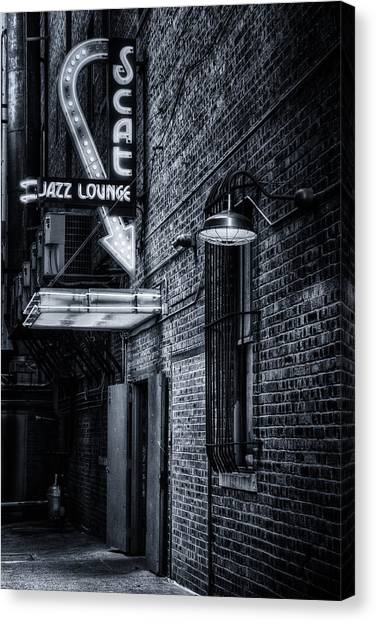 Scat Lounge In Cool Black And White Canvas Print