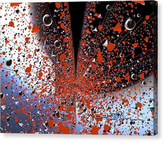 Scatter Burst One Canvas Print