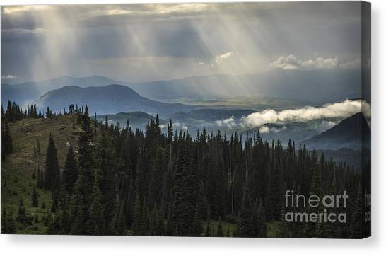Sleeping Giant Canvas Print - Scattered Sunlight by Medicine Tree Studios