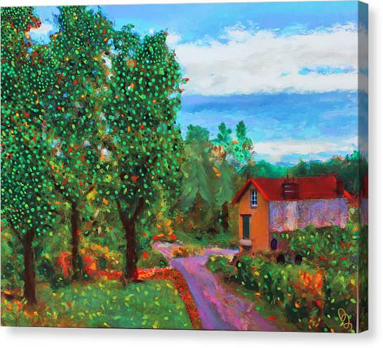 Scene From Giverny Canvas Print