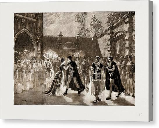 Garden Scene Canvas Print - Scene From Il Trovatore At Covent Garden Theatre, London by Litz Collection