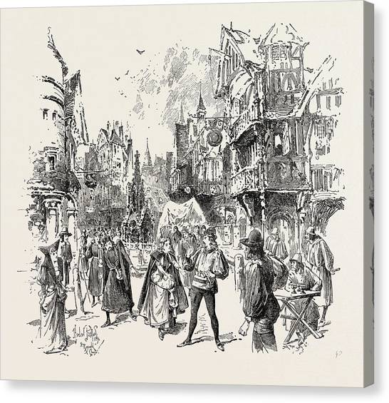 Colette Canvas Print - Scene From The New Opera La Basoche At The Royal English by English School