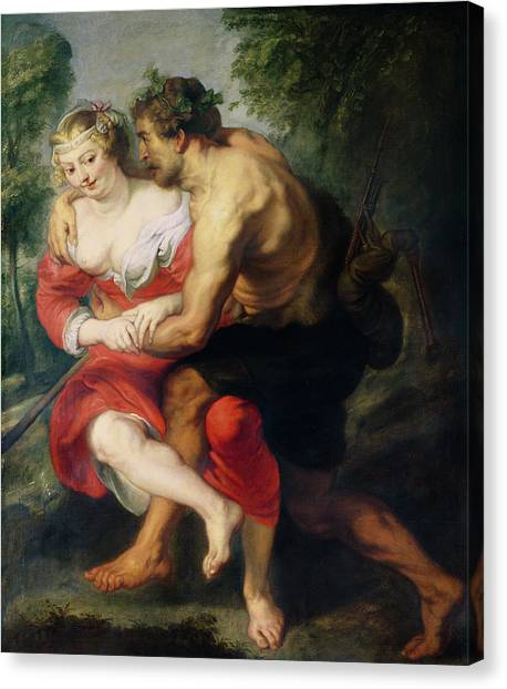 Bagpipes Canvas Print - Scene Of Love Or, The Gallant Conversation Oil On Canvas by Peter Paul Rubens
