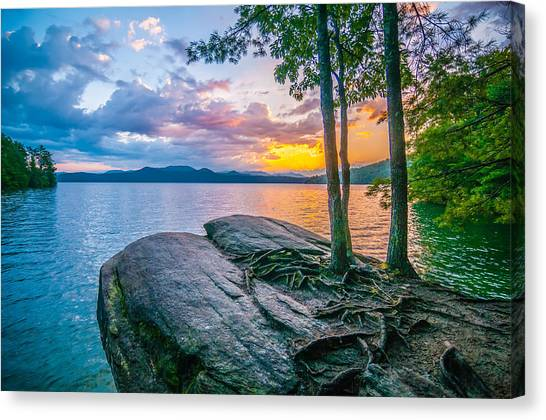 Scenery Around Lake Jocasse Gorge Canvas Print