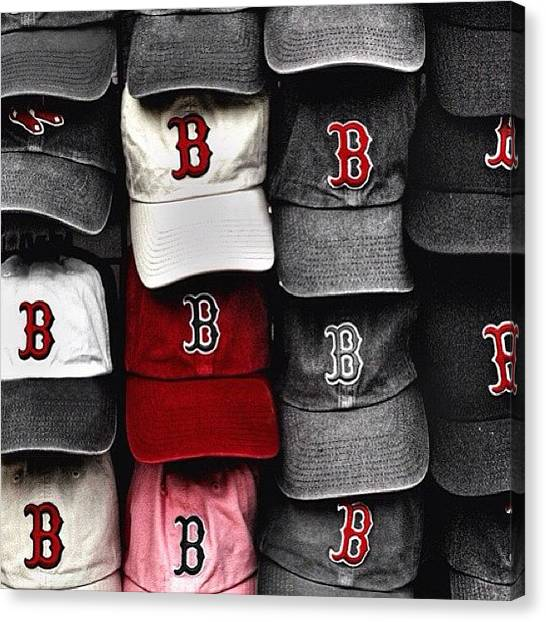 Baseball Canvas Print - Scenes Around Fenway #redsox #visitma by Joann Vitali