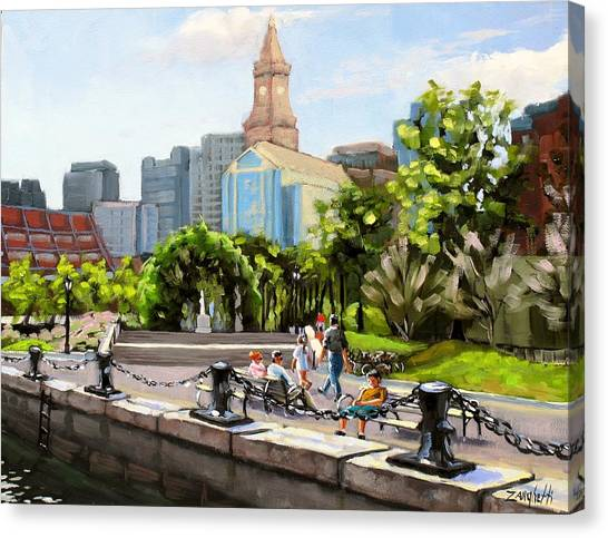 Scenic Boston Canvas Print