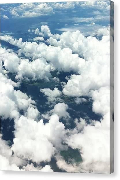 Scenic View Of Cloudy Sky Canvas Print by Agnieszka Morawska / Eyeem