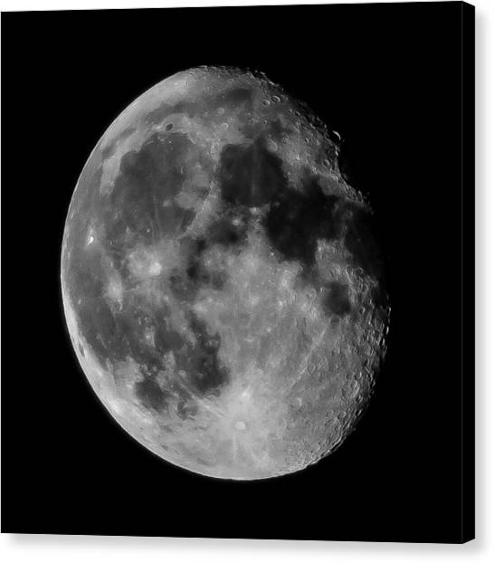 Scenic View Of Full Moon Canvas Print by Jens Mayer / Eyeem