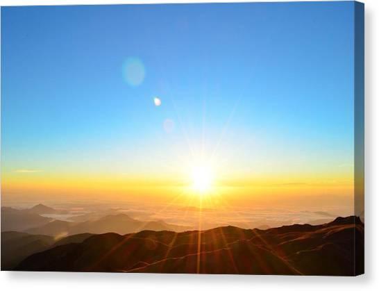 Scenic View Of Sunrise Canvas Print by Arturo Rafael Enriquez / Eyeem