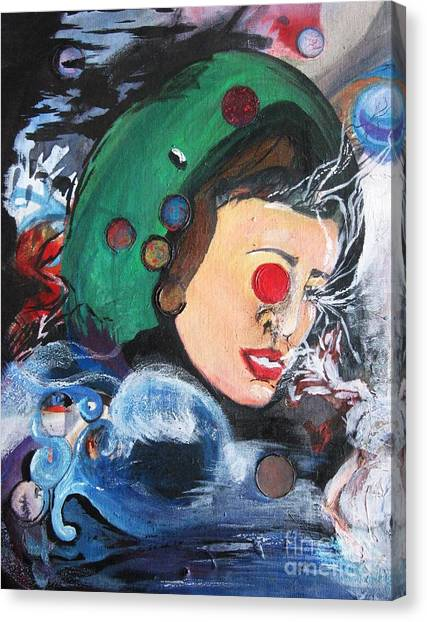 Surreal Canvas Print - Scent Of You Is Gravity by Hailee Johanson