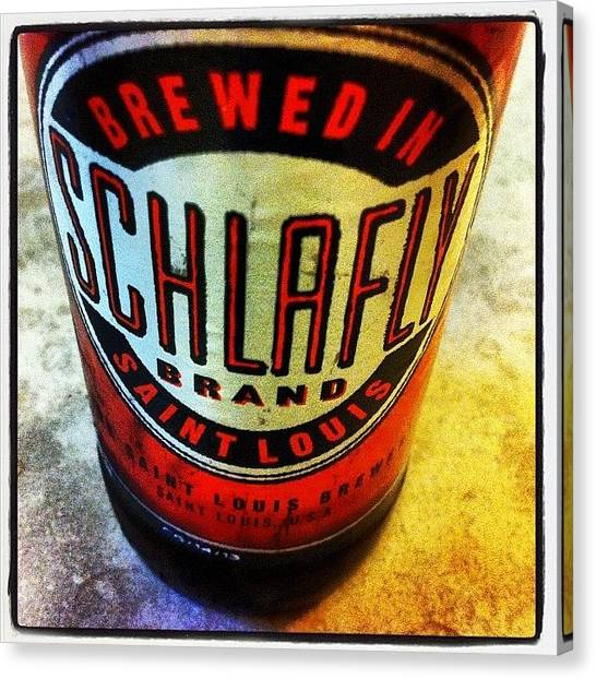 Beer Canvas Print - #schlafly #stlouis #paleale #beer by Dee Fry