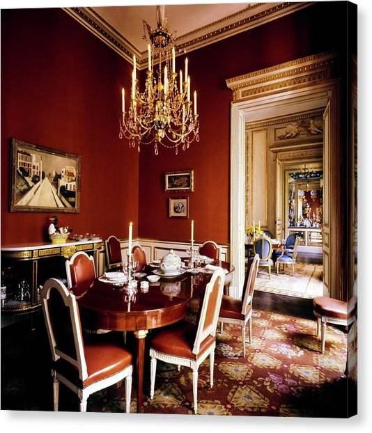 Schlumberger's Dining Room Canvas Print by Horst P. Horst