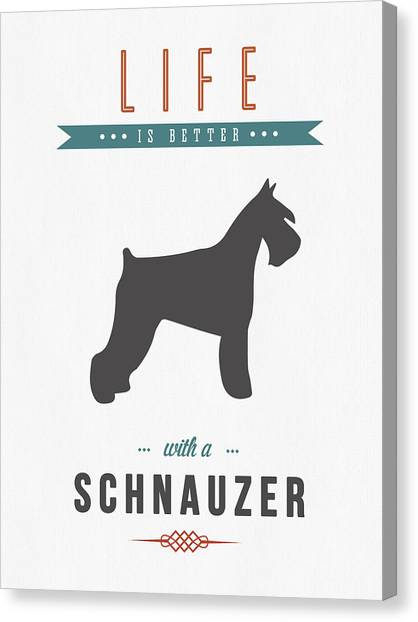 Quote Canvas Print - Schnauzer 01 by Aged Pixel