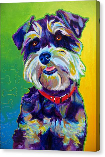 Schnauzers Canvas Print - Schnauzer - Charly by Alicia VanNoy Call