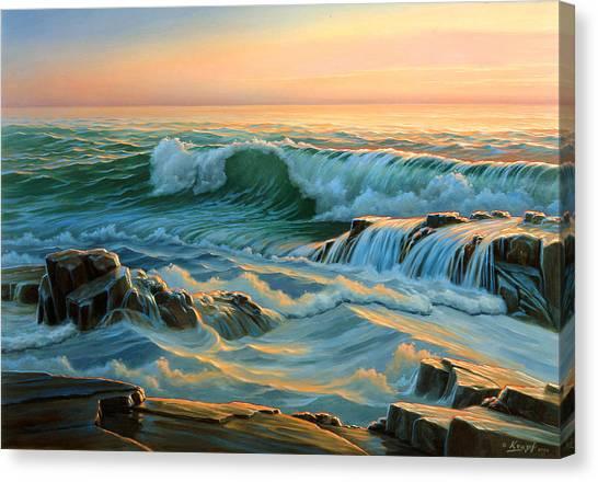 Maine Canvas Print - Schoodic Point Before Sunrise  by Paul Krapf