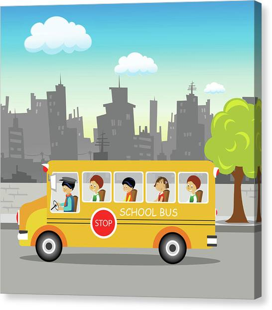 Science Education Canvas Print - School Bus On Its Way by Fanatic Studio / Science Photo Library