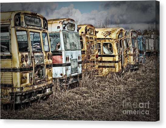 School Buses Canvas Print