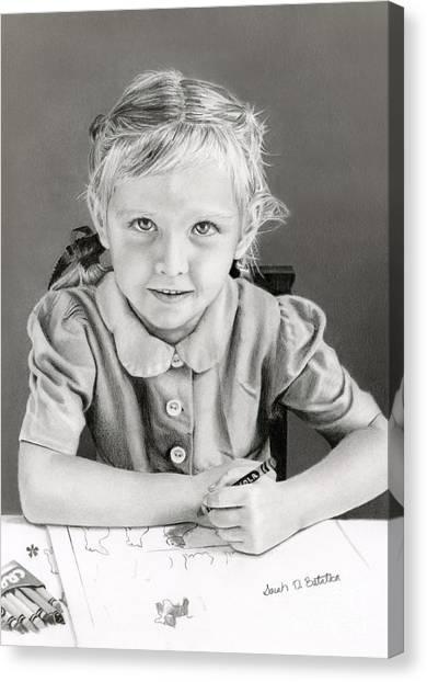 Elementary School Canvas Print - School Days 1948 by Sarah Batalka