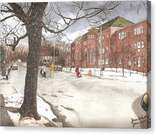 School Days In Medford - Brooks School Canvas Print