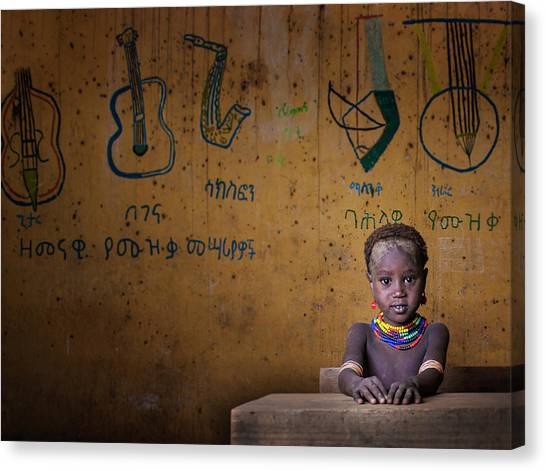 Saxophones Canvas Print - School by Mohammed Al Sulaili