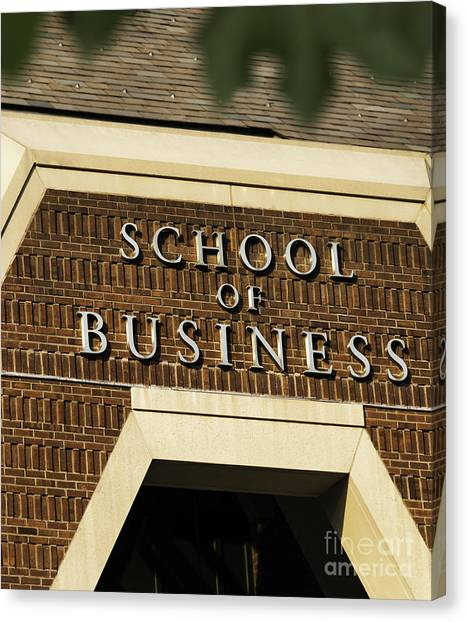 Mba Canvas Print - School Of Business by Phil Cardamone