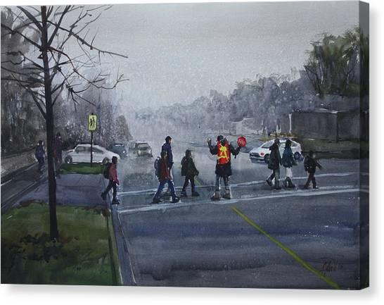 School Traffic Canvas Print