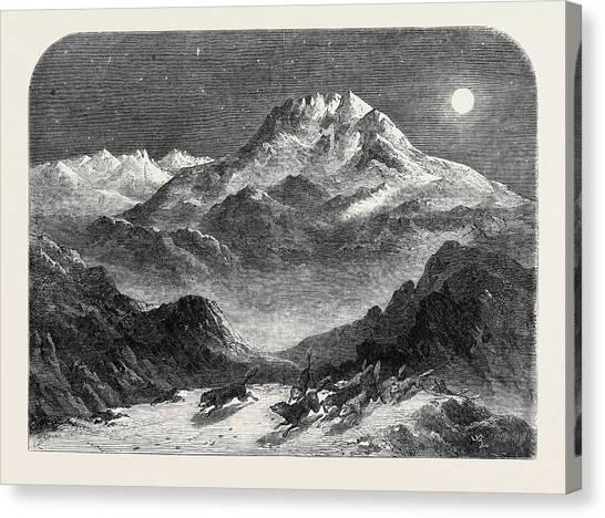 Wolf Moon Canvas Print - Schuershatten Norway by Norwegian School