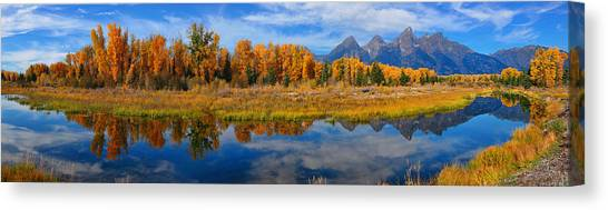 Schwabacher Autumn Reflections Panorama Canvas Print