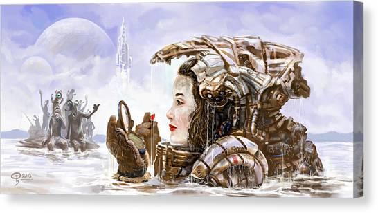 Sci Fi Girl Canvas Print