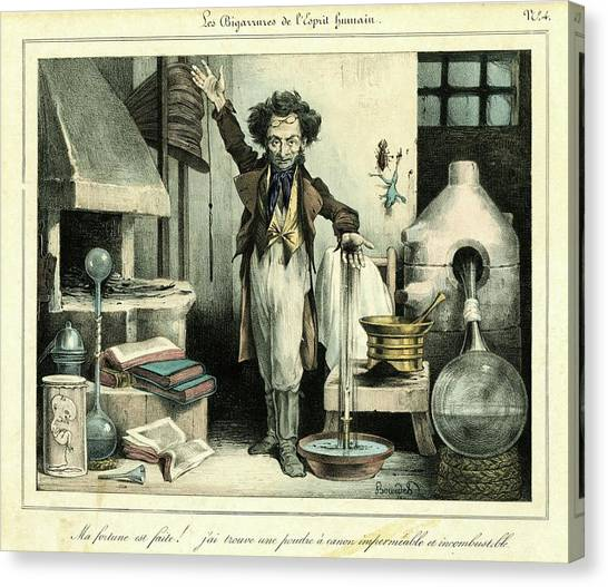 Chemicals Canvas Print - Scientist by Chemical Heritage Foundation/science Photo Library