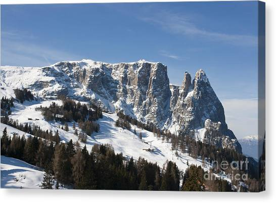 Sciliar's Mountains Canvas Print by Pier Giorgio Mariani