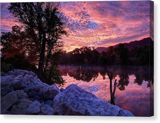 Scioto Sunrise Canvas Print