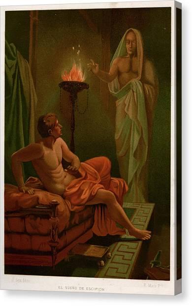 Scipio's Dream The Roman General Scipio Canvas Print by Mary Evans Picture Library