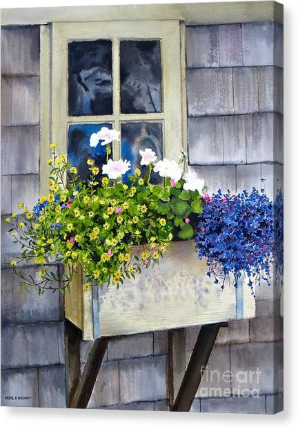 'sconset Window Box Canvas Print